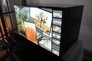 "MultiTouch Cell is available in two sizes: 32"" and 46""."